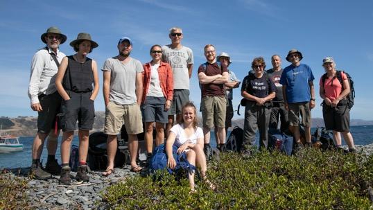 Flax weevil work trip crew